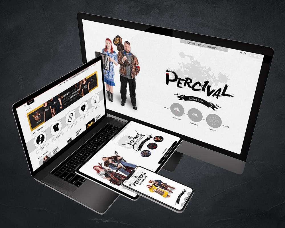 Strona internetowa Percival